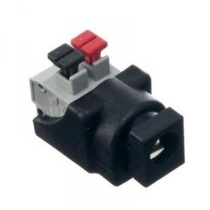Konektor napájecí DC 2,1/5,5mm se zasouvací svorkovnicí, samice